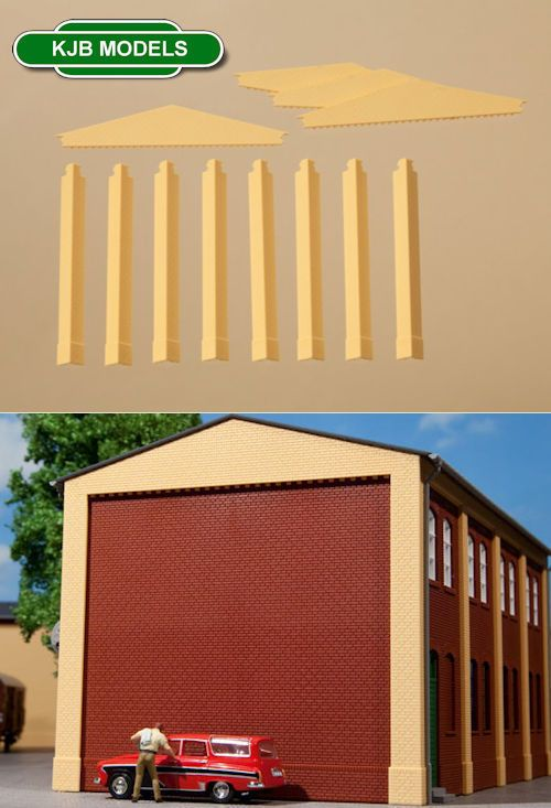 Auhagen 80408 Corner Pillars Extension Red Modelling Kit