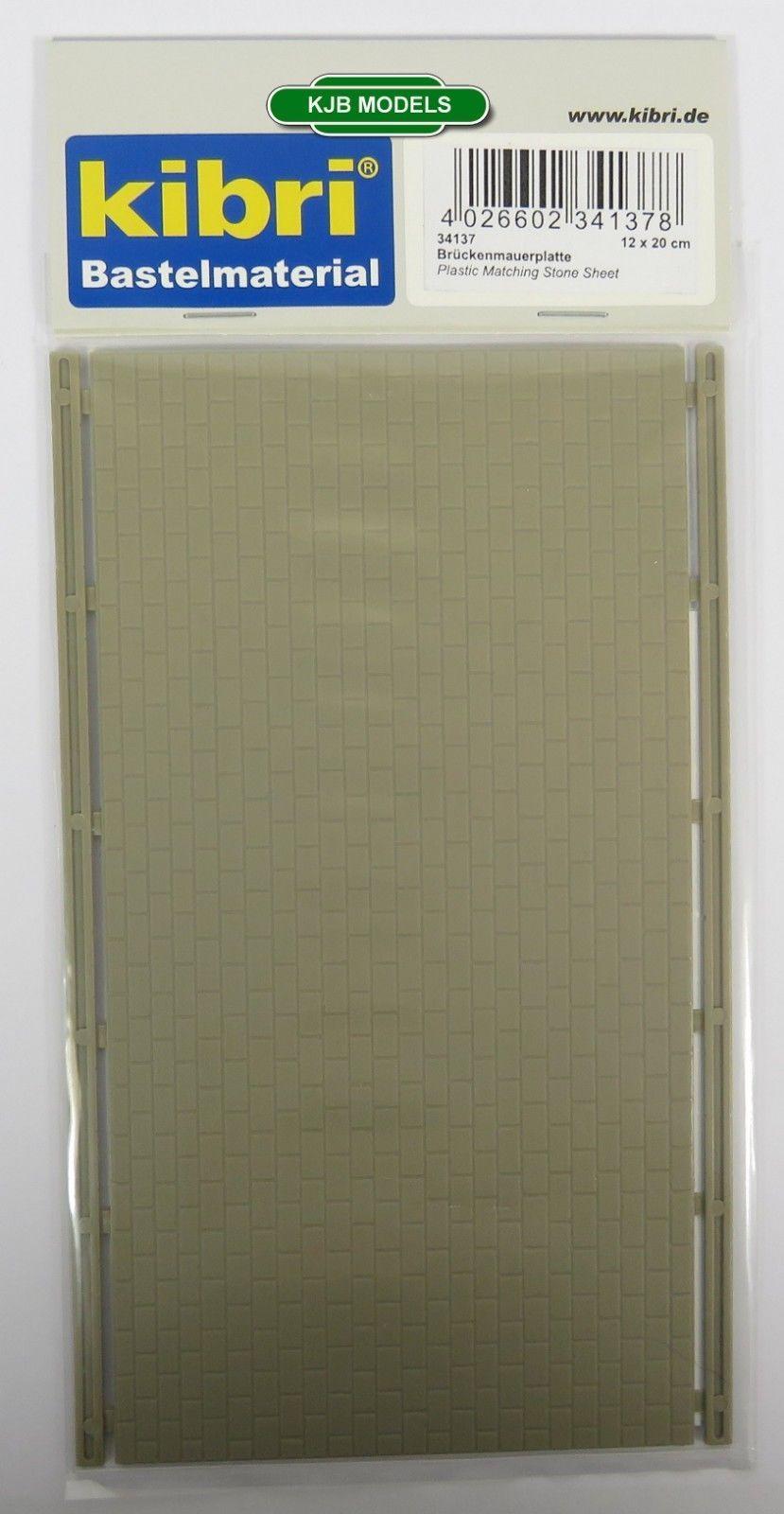 BRIDGE WALL PLATE PLASTIC SHEET BNIB OO HO GAUGE KIBRI 34145 RETAINING WALL
