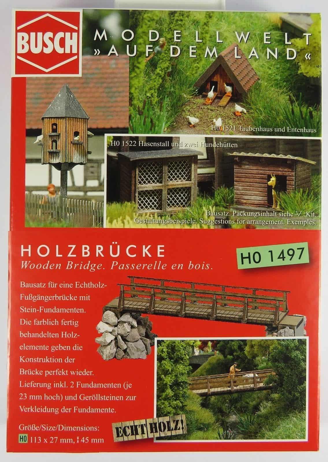 Wooden Bridge HO//OO gauge Busch BUS1497